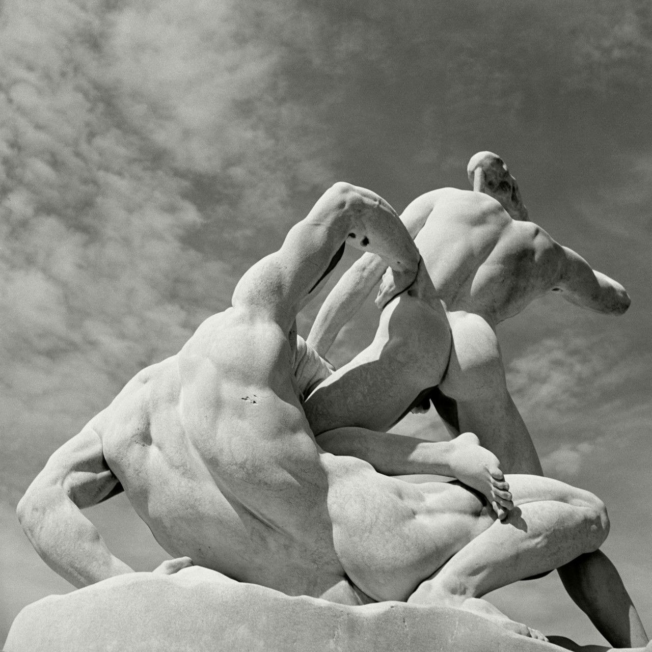 Herbert List The Tuileries gardens. Theseus and the Minotaur. Paris. France. 1936.